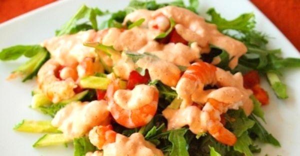Салат с креветками и помидором рецепты с