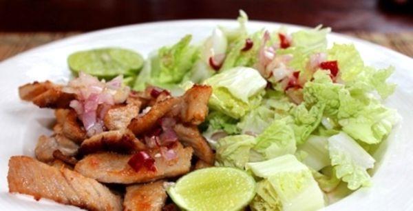Рецепт салата с мясом свинины с