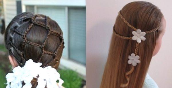 Создание красивой детской укладки на длинных волосах