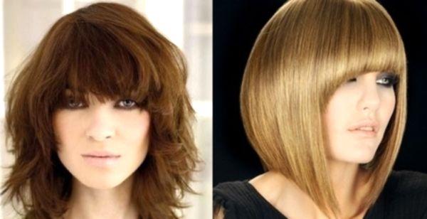 Стрижка для непослушных волос средней длины фото