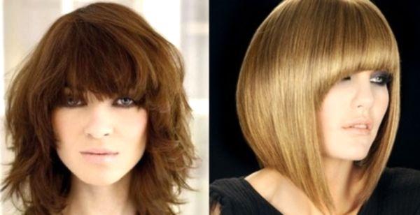Стрижки для пушистых волос средней длины без укладки