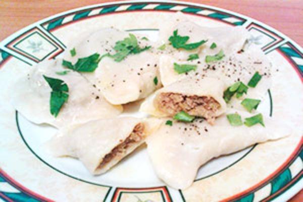 Ленивые вареники с мясом рецепт с фото