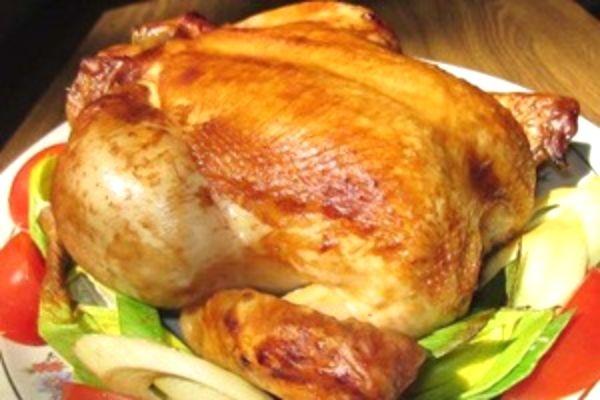 рецепт запекания курицы в духовке целиком с картошкой