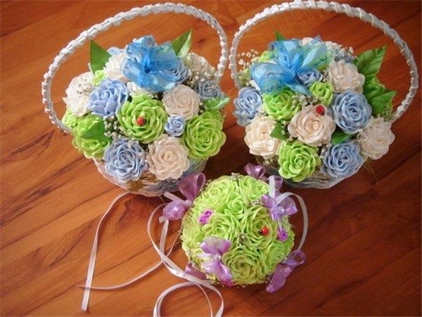 Цветы в корзиночки своими руками из бумаги