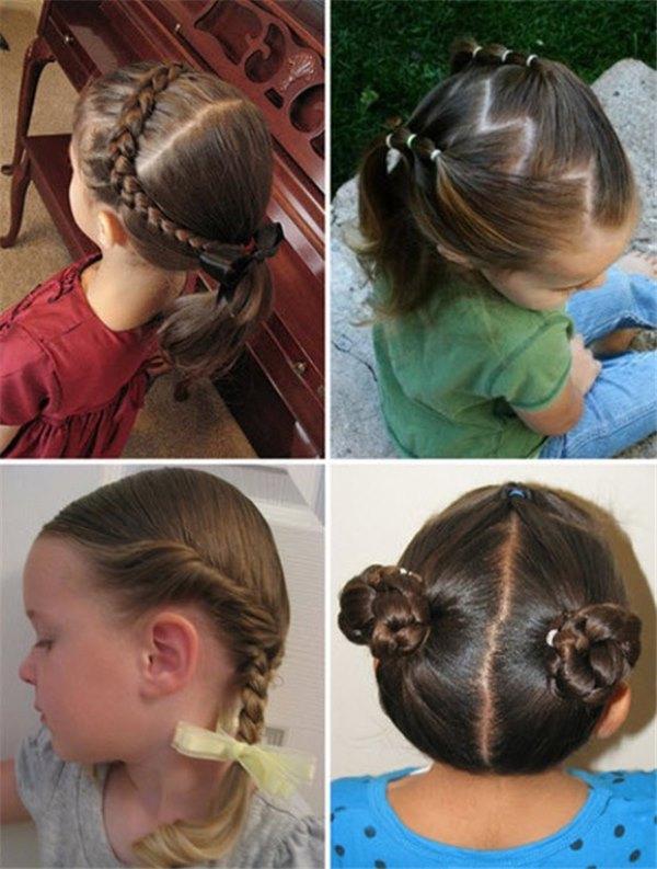 Прическа детская на короткие волосы в домашних условиях