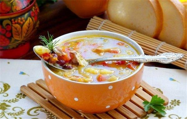 Суп с говядиной и фасолью консервированнойы с фото
