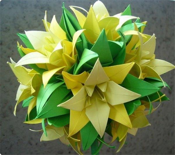 Как из бумаги сделать лилии из