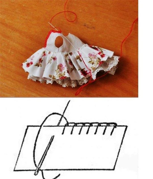 Как сшить короткое платье кукле 864