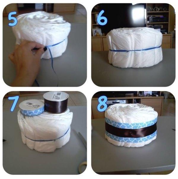 Как сделать торт из памперсов своими руками пошагово для мальчика фото