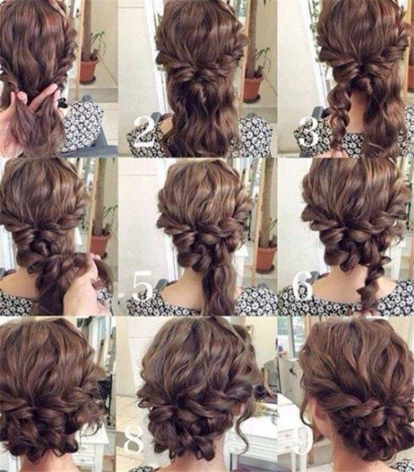 собранные прически на длинные волосы фото пошагово