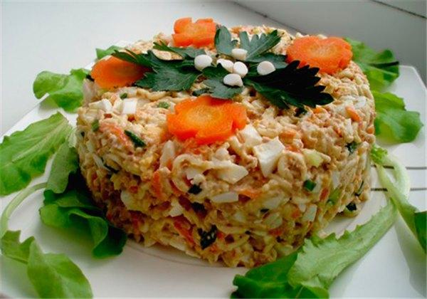 Салат печень трески рецепт с фото пошагово