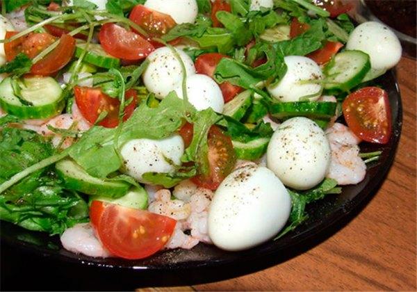 Салаты с перепелиными яичками рецепты с фото