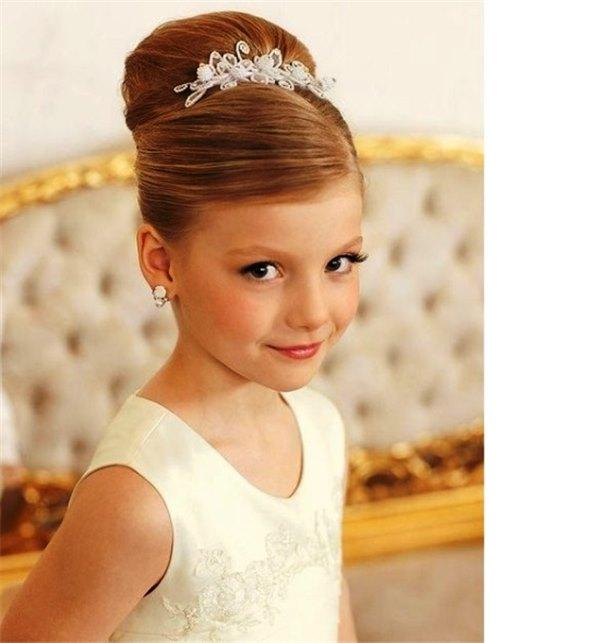 Детские прически на свадьбу для девочек 10 летние и легкие