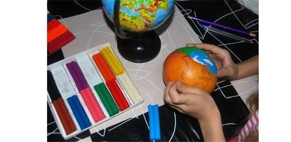 Модель земли из пластилина своими руками 1