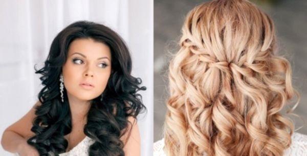 a16892ac37e Свадебные прически с распущенными волосами  женственный и невинный образ