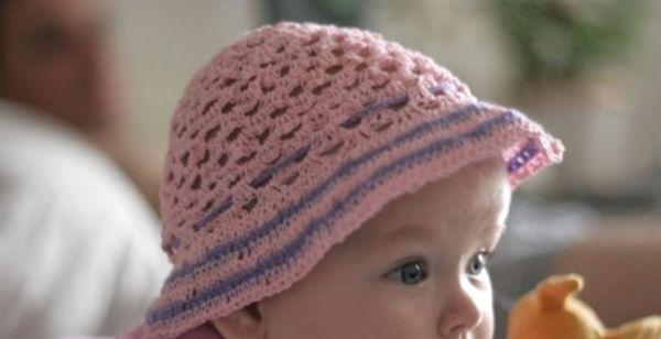вязание крючком детям шляпка для маленькой принцессы