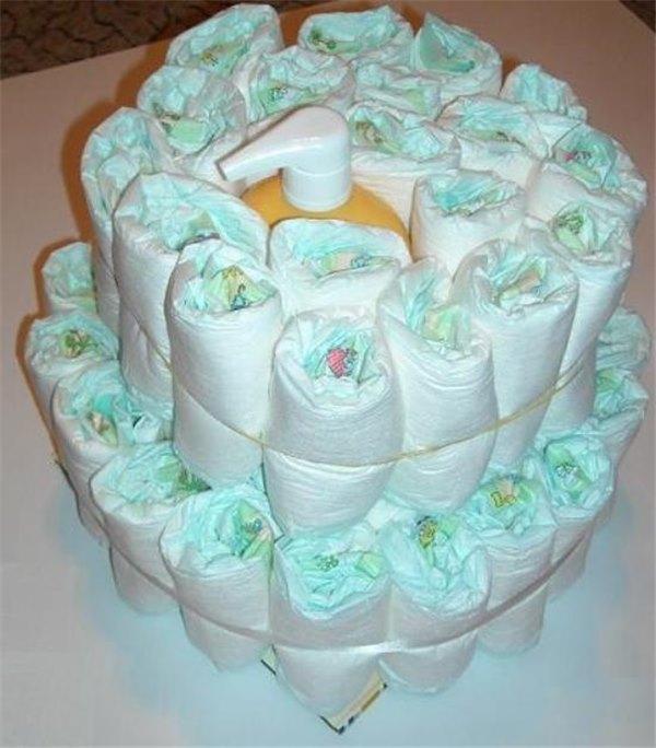 девушка тяготеет торт из памперсов своими руками пошагово фото тоненькие