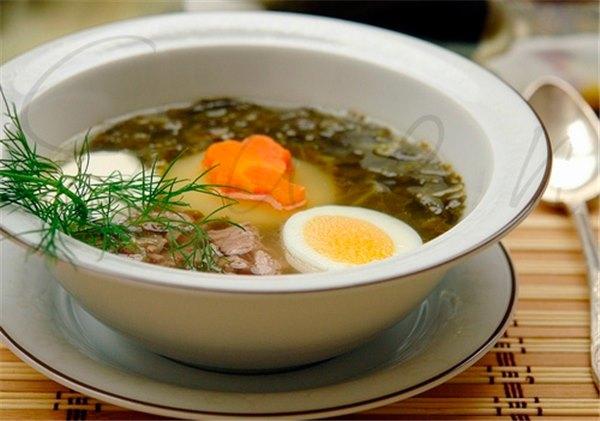 Щавелевый суп Как приготовить суп со щавелем и яйцом с
