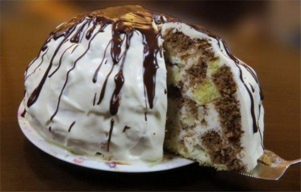 торт санчо панчо рецепт с ананасами из готовых коржей