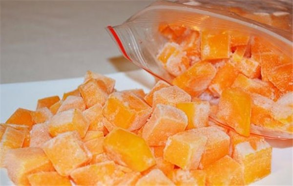 Заморозка тыквы для детского питания